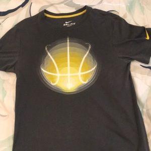 NIKE yellow Basketball Tee